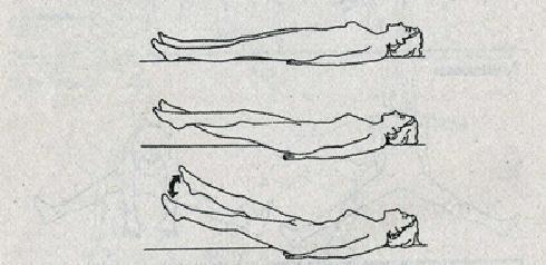 Упражнение бодифлекс - Ножницы