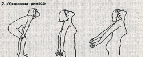 Упражнение Уродливая гримаса