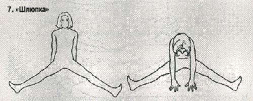 Упражнение бодифлекс - Шлюпка